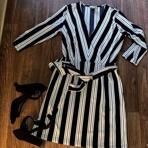 🍁Pretty striped dress